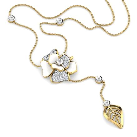 Shaina White Rosebud Necklace