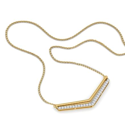 Zoe Sagittate Bar Necklace
