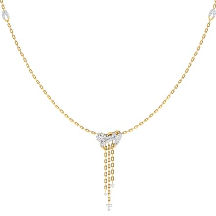 Curved Lariat Necklace