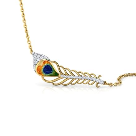 Peacock Feather Diamond Necklace