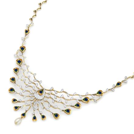 Ritzy Peacock Necklace