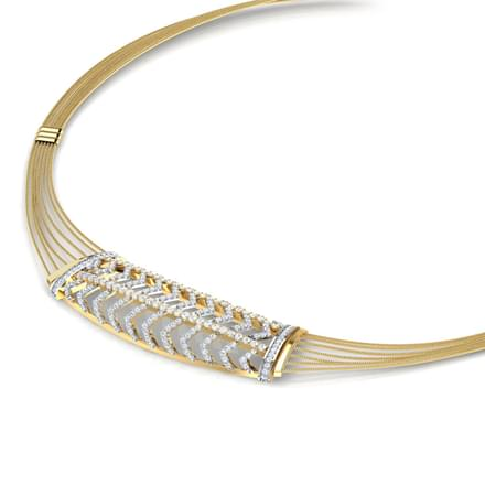 Crisscut Wired Necklace