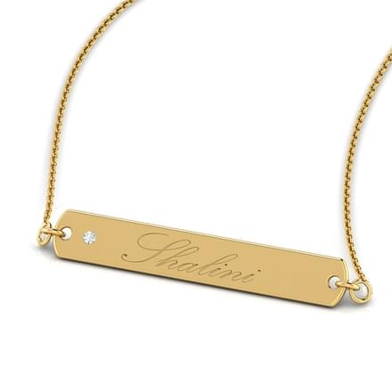 Linear Gold Bar Necklace