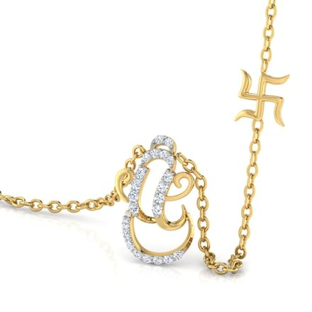 Ganesha And Swastik Necklace
