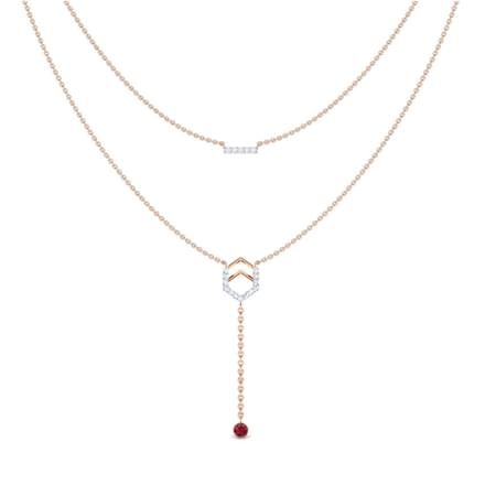 Hexa Bar Multi Layer Necklace