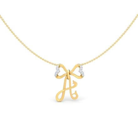 Alphabet A Bow Necklace