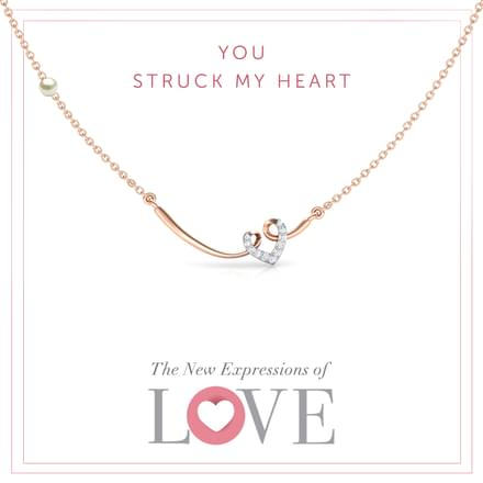 Looped Heart Bar Necklace