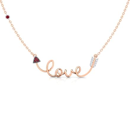 Cursive Love Bar Necklace
