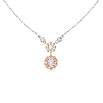Duo Floret Miracle Plate Necklace