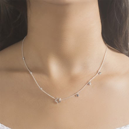 Starry Night Fine Line Necklace