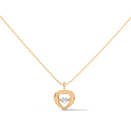 Doris Heartbeat Diamond Necklace