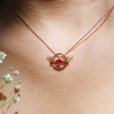 Encircle Dragonfly Necklace