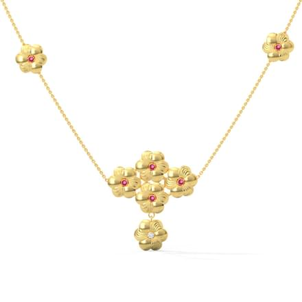 Blossom Ruby Diamond Necklace