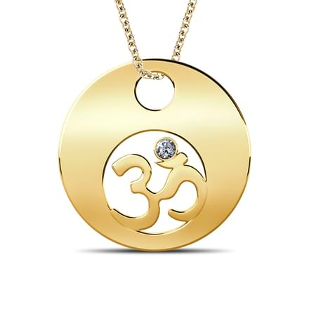 Full Moon OM Pendant