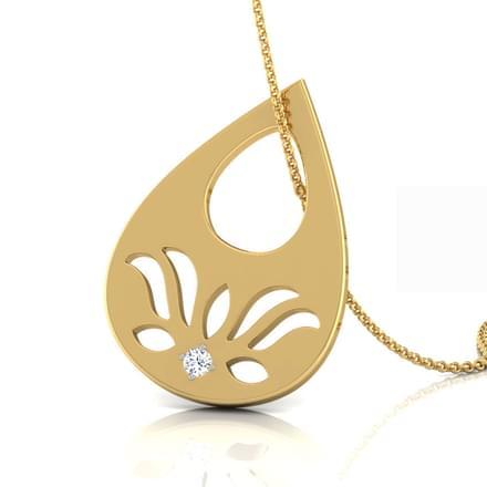 Dewdrop Lotus Pendant