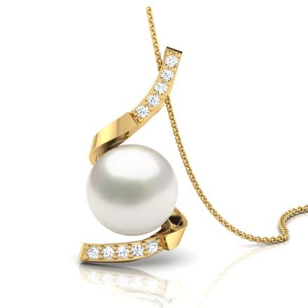 Icicle Twist Pearl Pendant