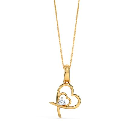 Criss-Cross Heart Pendant