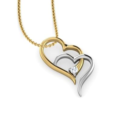 Joint heart pendant jewellery india online caratlane joint heart pendant mozeypictures Image collections