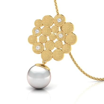 Honeycomb Pearl Drop Pendant