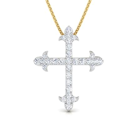 Cruz diamond cross pendant jewellery india online caratlane cruz diamond cross pendant aloadofball Image collections