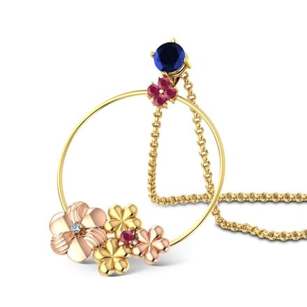 Looped Floral Pendant