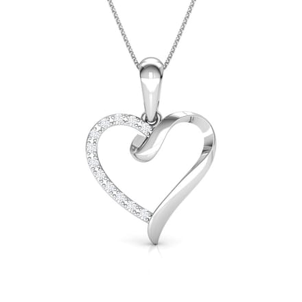 Ettie Love Silver Pendant in 14KT White Gold
