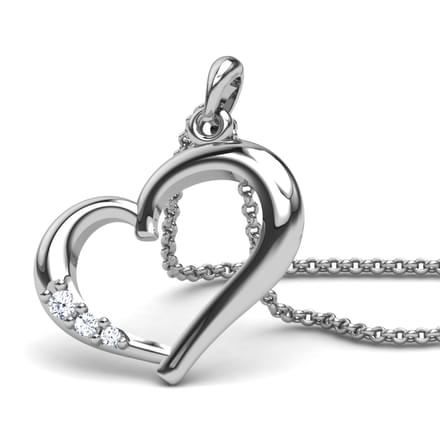 Maitena Gold Pendant in 14KT White Gold