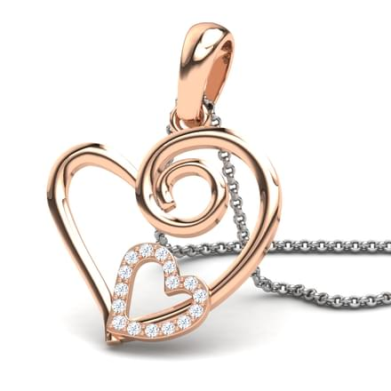 Asthore  Gold Pendant in 14KT Rose Gold