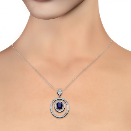 Concentric Oval Pendant