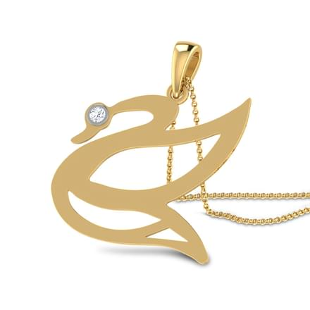 Swan cut-out Pendant