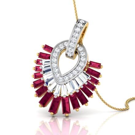 Ruby Frills Pendant