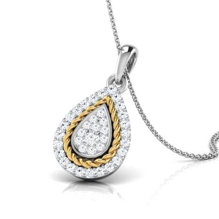 Olivia Filigree Pear Pendant