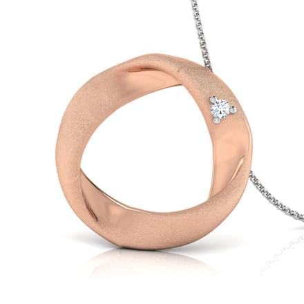 Nina Circle Twist Pendant