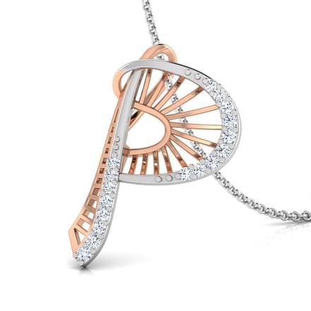 Demi alphabet p pendant jewellery india online caratlane demi alphabet p pendant aloadofball Image collections
