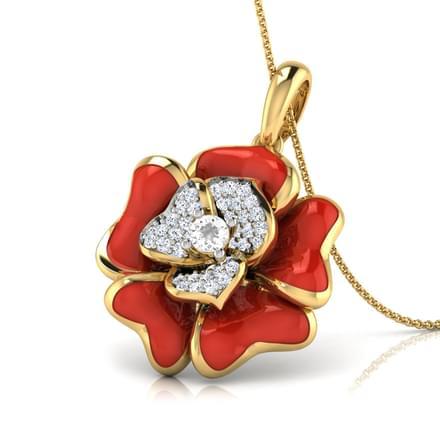 Rosalia Red Fle Pendant