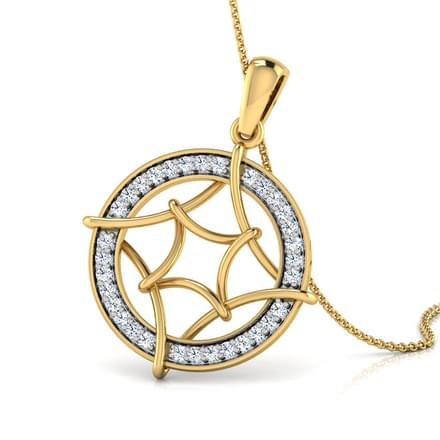 Stacy Looped Diamond Pendant