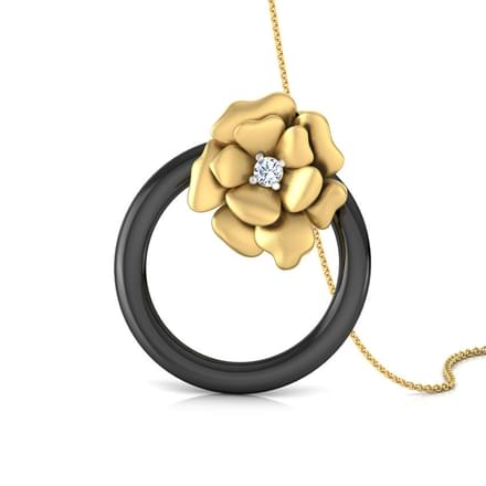 Flower In a Hoop Pendant
