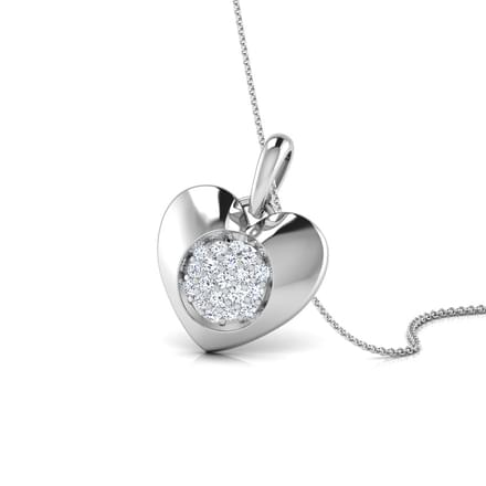 Cluster in Heart Stud Pendant