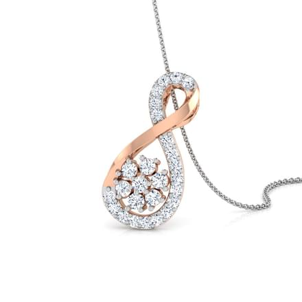 698 diamond pendants price starting rs 3978 cluster infinity diamond pendant aloadofball Gallery