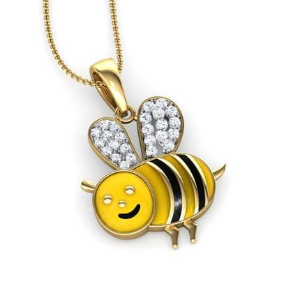 Bumble bee pendant jewellery india online caratlane bumble bee pendant aloadofball Images