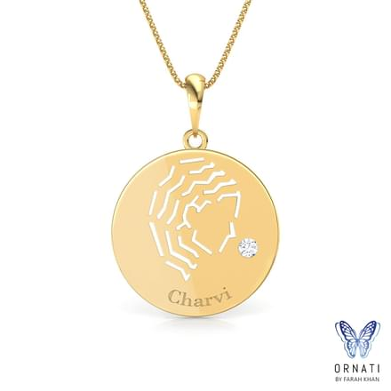 Virgo Personalised Zodiac Pendant