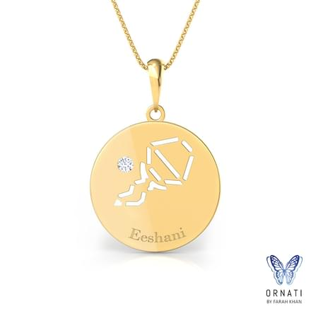 Aquarius Personalised Zodiac Pendant