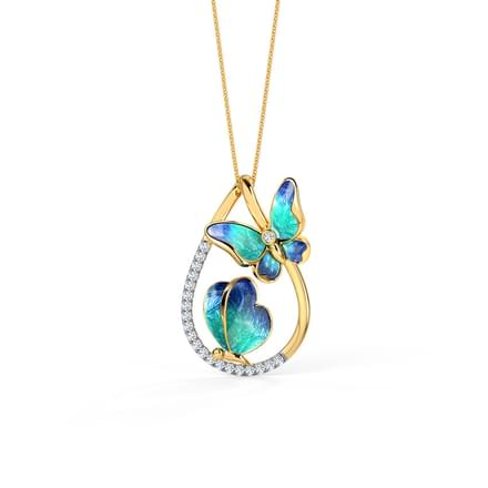 884 pendants price starting rs 3598 duo blue butterfly pendant aloadofball