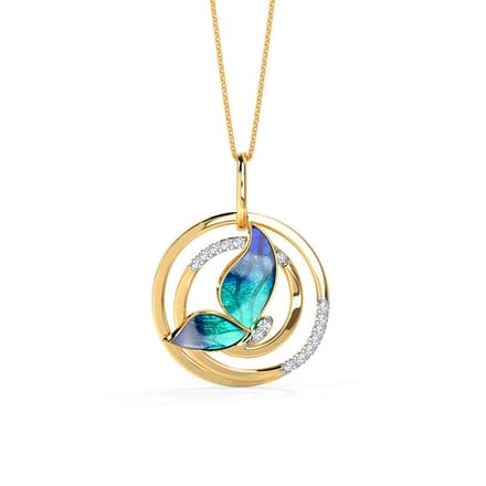 782 casual pendants designs buy casual pendants price rs 4018 swirl blue butterfly pendant mozeypictures Image collections