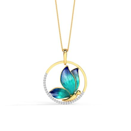 Buy jewellery under rs30000 online in india encircle blue butterfly pendant aloadofball Gallery