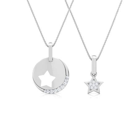712 diamond pendants price starting rs 4255 star mother and daughter duo pendant aloadofball Gallery