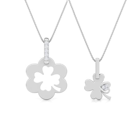 Clover Mother and Daughter Duo Pendant