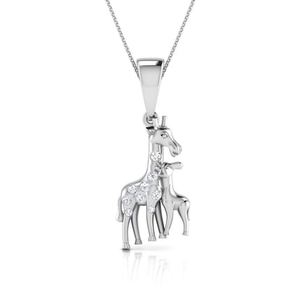 Giraffe Mother and Daughter Pendant