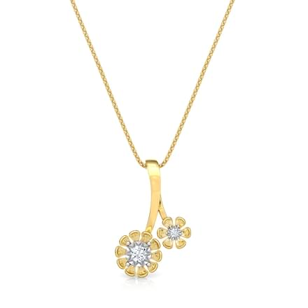 Duo Floret Miracle Plate Pendant
