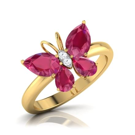Butterfly Ruby Ring